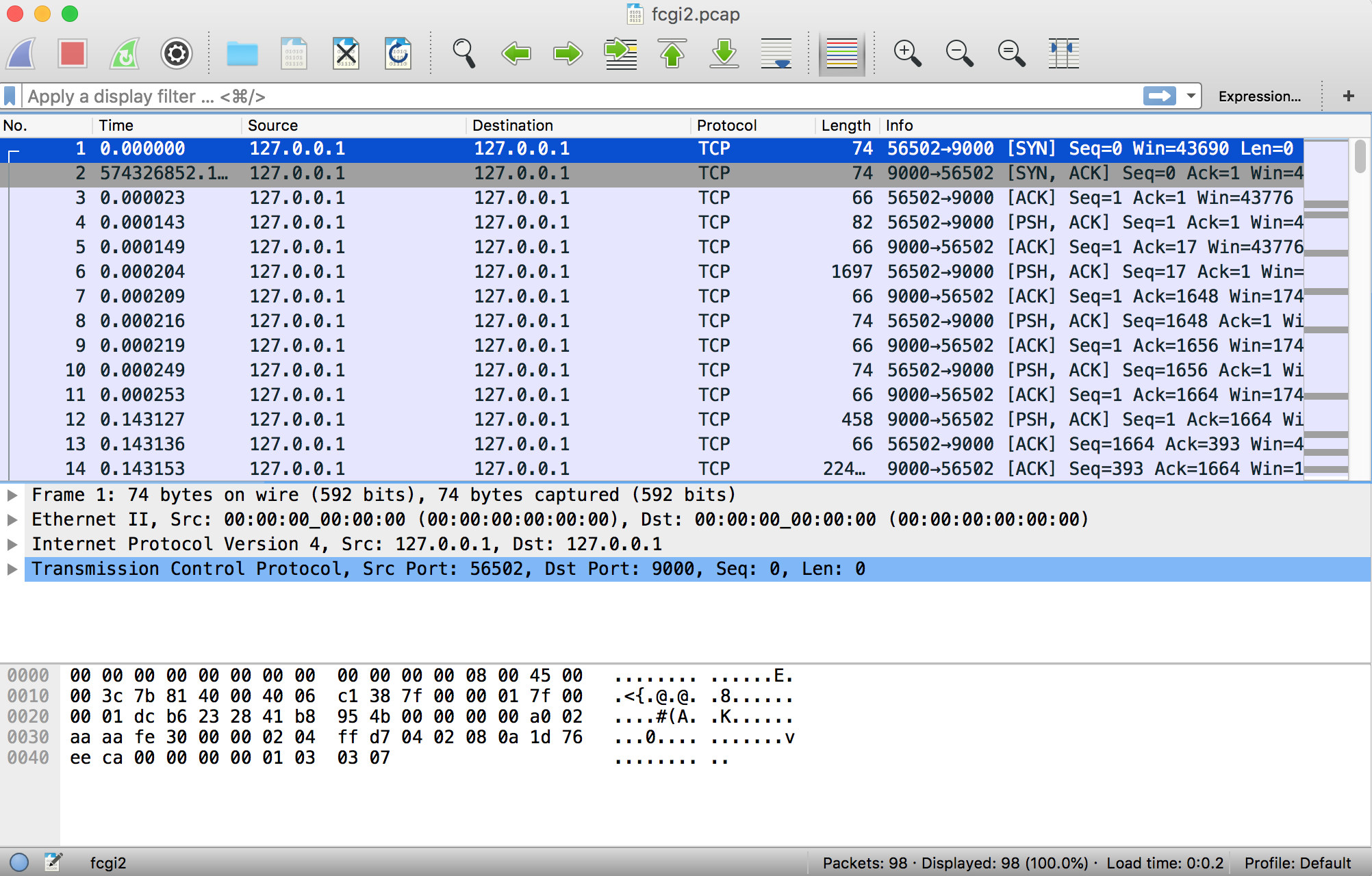 Inspecting FastCGI Packets with Wireshark | Max Chadwick