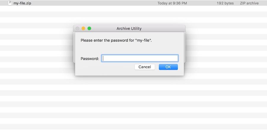 mac zip file command